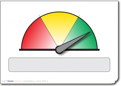 Visual indicator green/yellow/red for a Lean Board